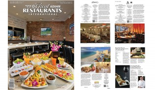 "Get 2 copies of the 256-page, color glossy, 2015 edition ""Great Kosher Restaurants Magazine"" for $10 (INCLUDES FREE U.S. SHIPPING)"